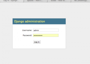 Django admin interface
